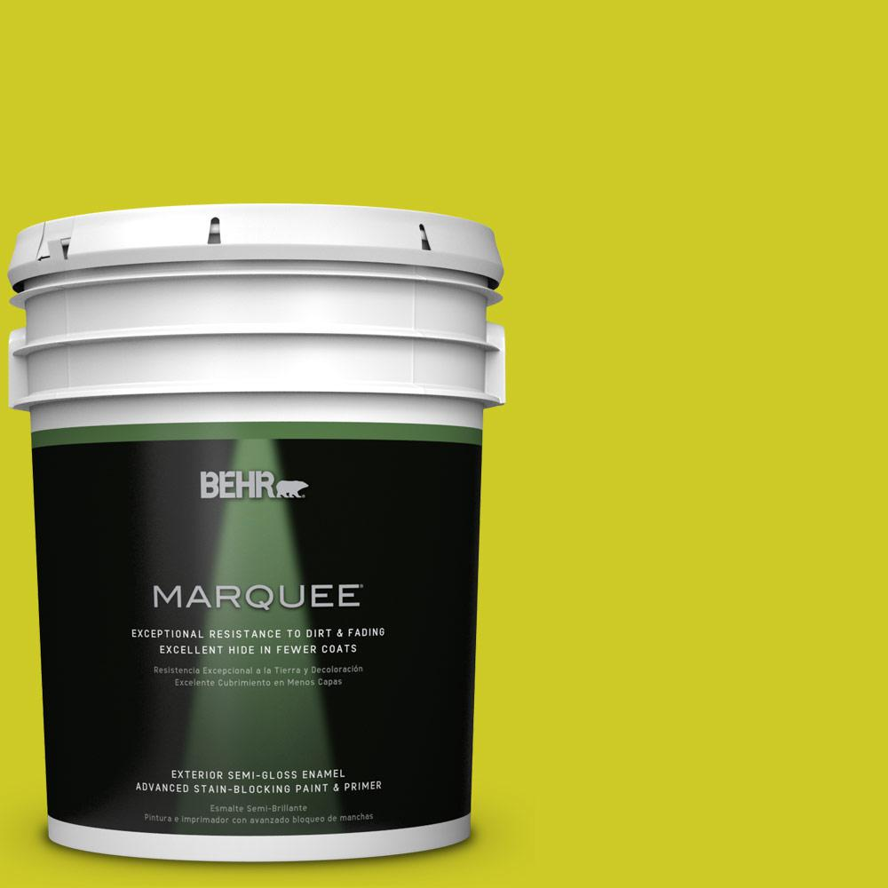 5-gal. #S-G-400 Lime Pop Semi-Gloss Enamel Exterior Paint