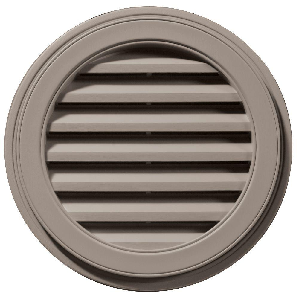 Builders Edge 22 in. Round Gable Vent in Clay