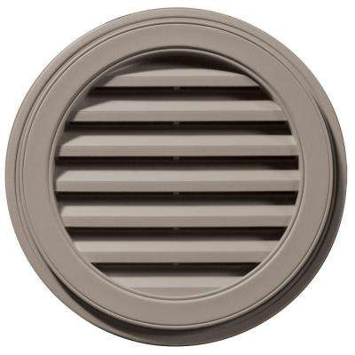 22 in. Round Gable Vent in Clay
