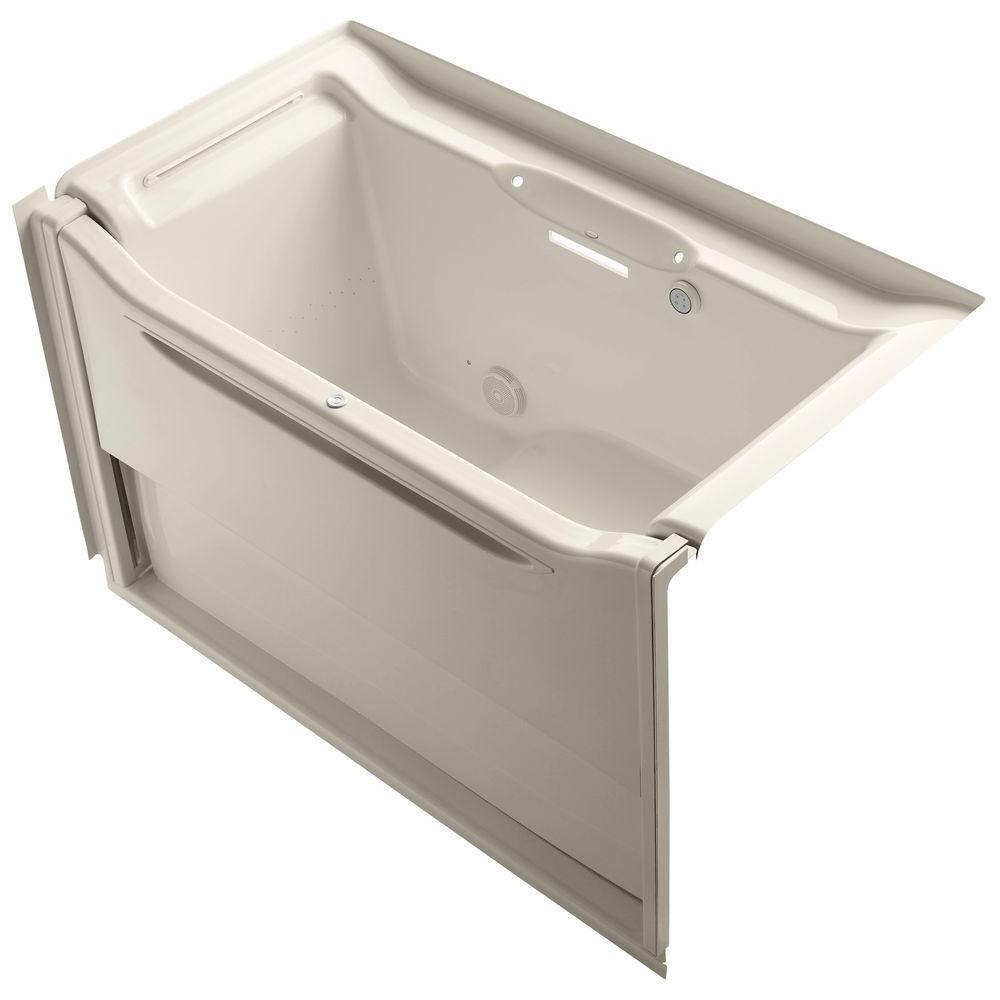 Elevance 5 ft. Air Bath Tub in Almond