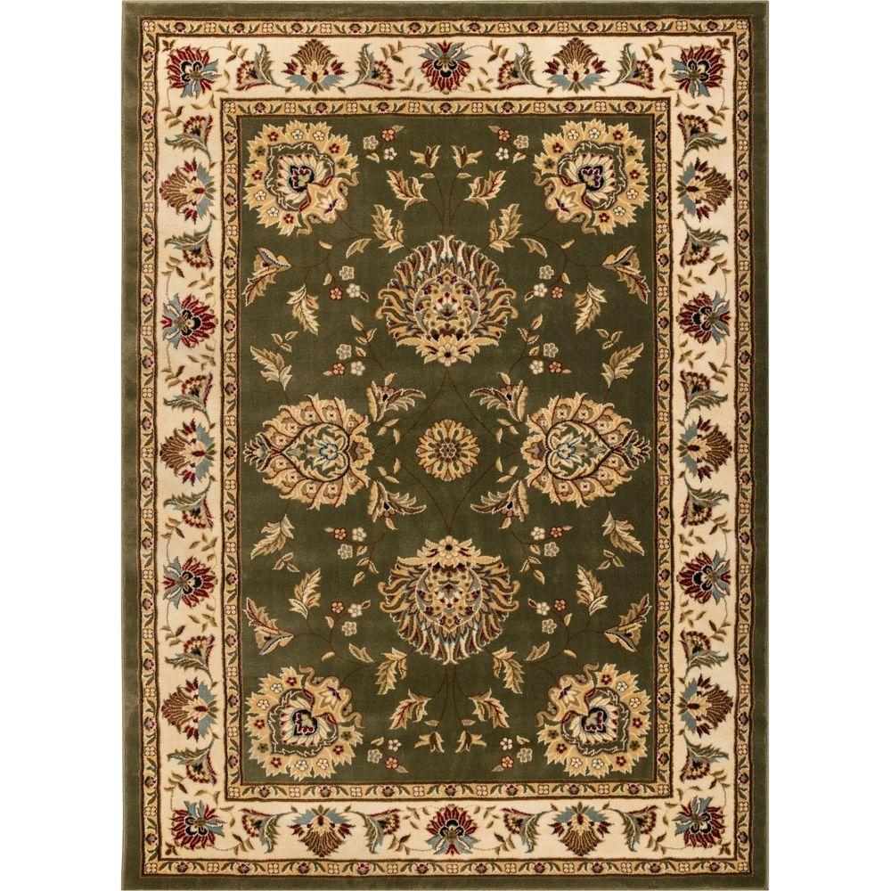 Well Woven Timeless Abbasi Green 5 Ft X 7 Traditional Area Rug
