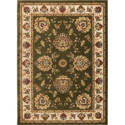 Timeless Abbasi Green 7 ft. x 9 ft. Traditional Classical Area Rug