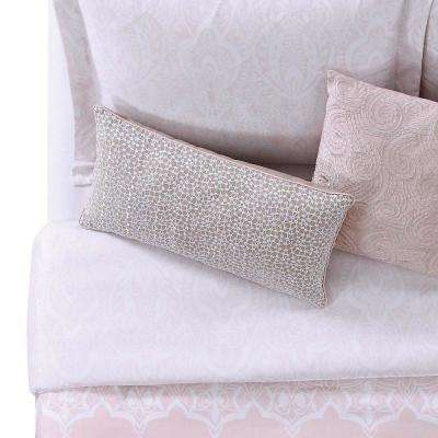 12 in. x 22 in. Ombre Lace Pink Pillow