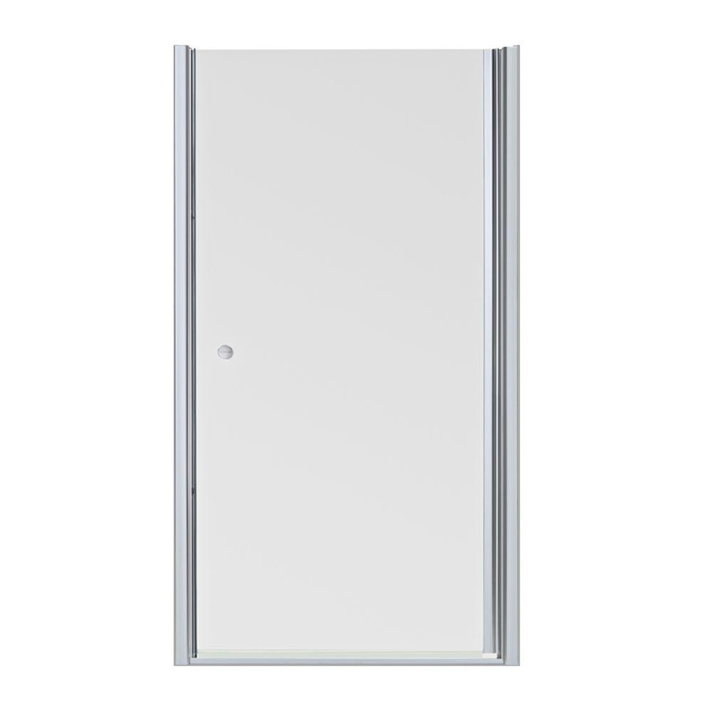 Fluence 39 in. x 65-1/2 in. Semi-Frameless Pivot Shower Door in