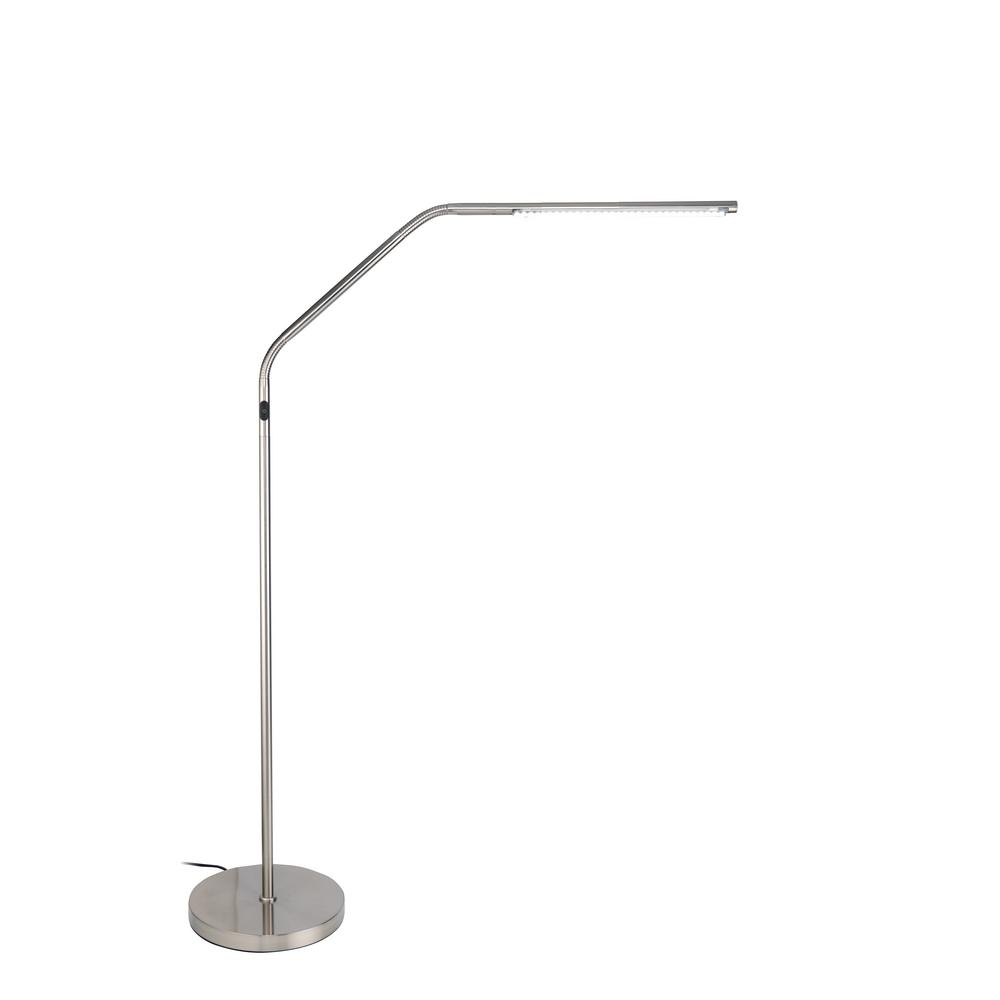 48 S Lamp InBrushed Chrome Slimline Led Floor OPXiuwkZT