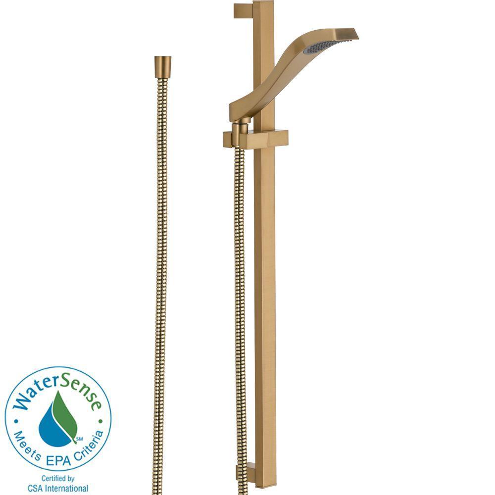 Dryden 1-Spray Slide Bar Hand Shower in Champagne Bronze