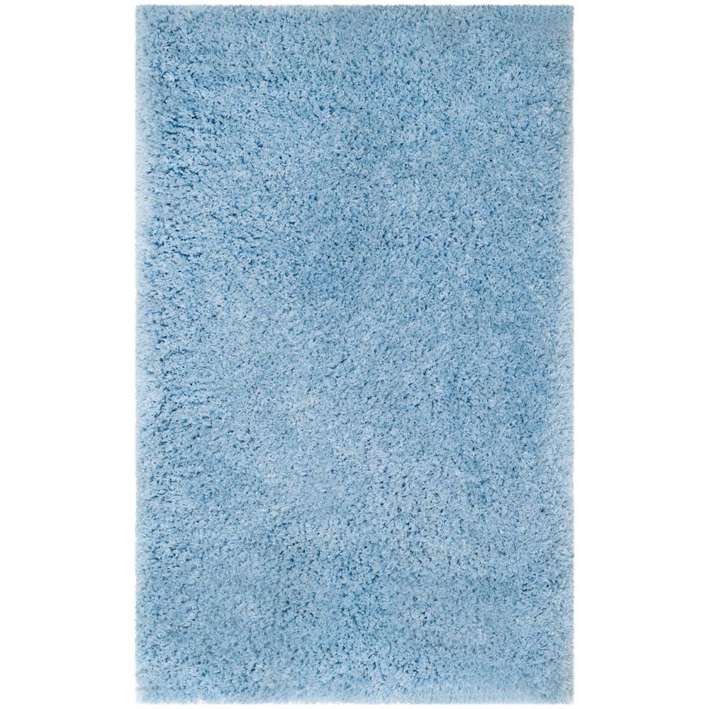 Safavieh Supreme Shag Light Blue 3 ft