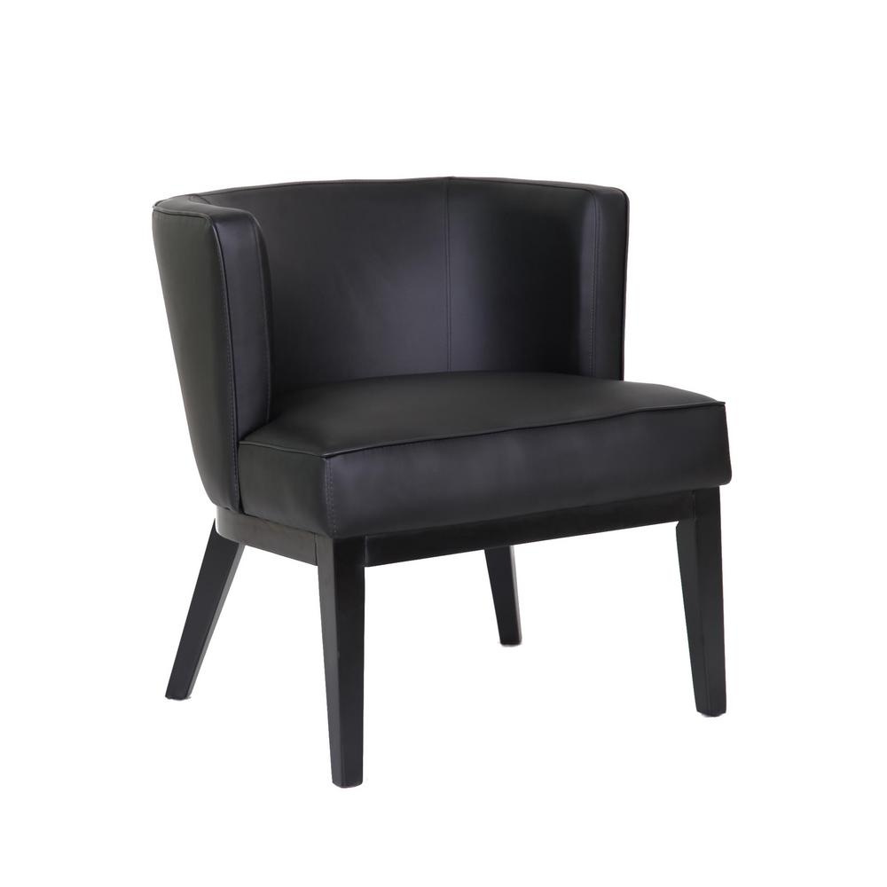 Boss Ava Black Accent Chair