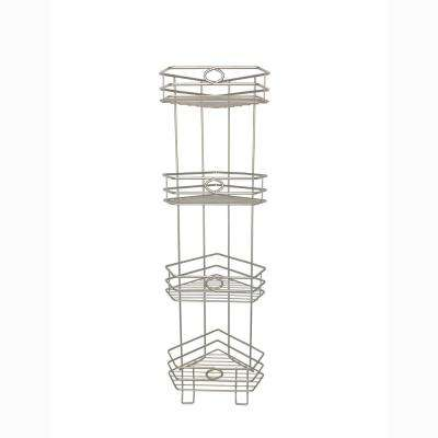Wesley 7.87 in. W Space Saver Tower Shelf in Satin Nickel