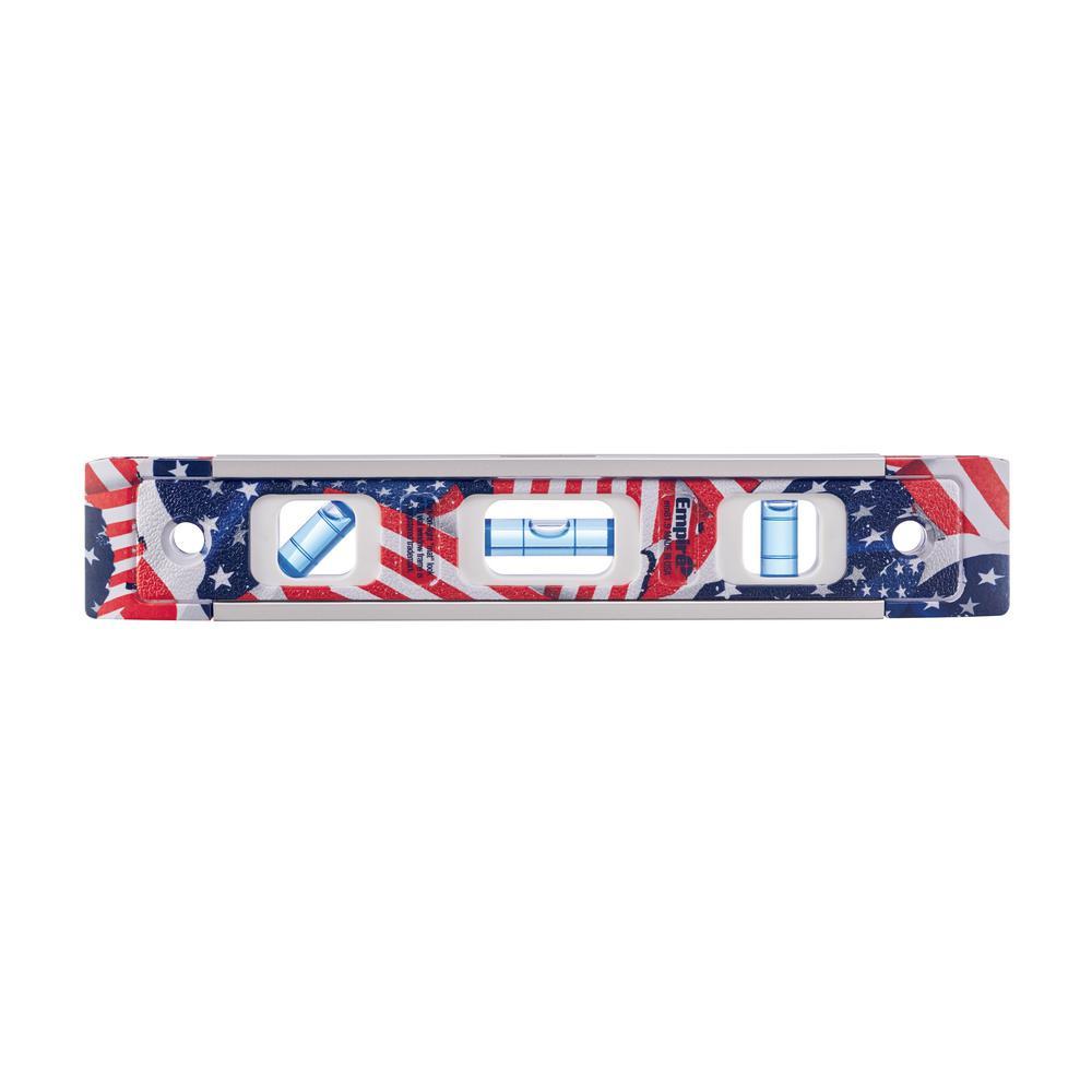 9 in. American Flag Torpedo Level