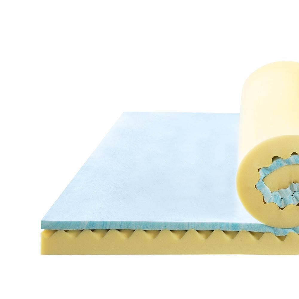 4 in. Twin Gel Memory Foam Mattress Topper