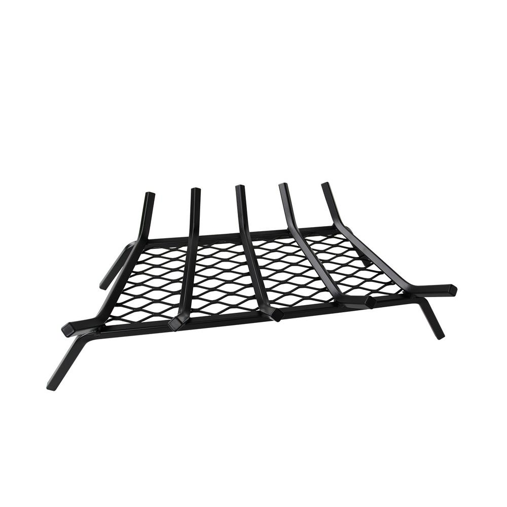 23 In Steel Bar Fireplace Grate With Ember Retainer H112 A The