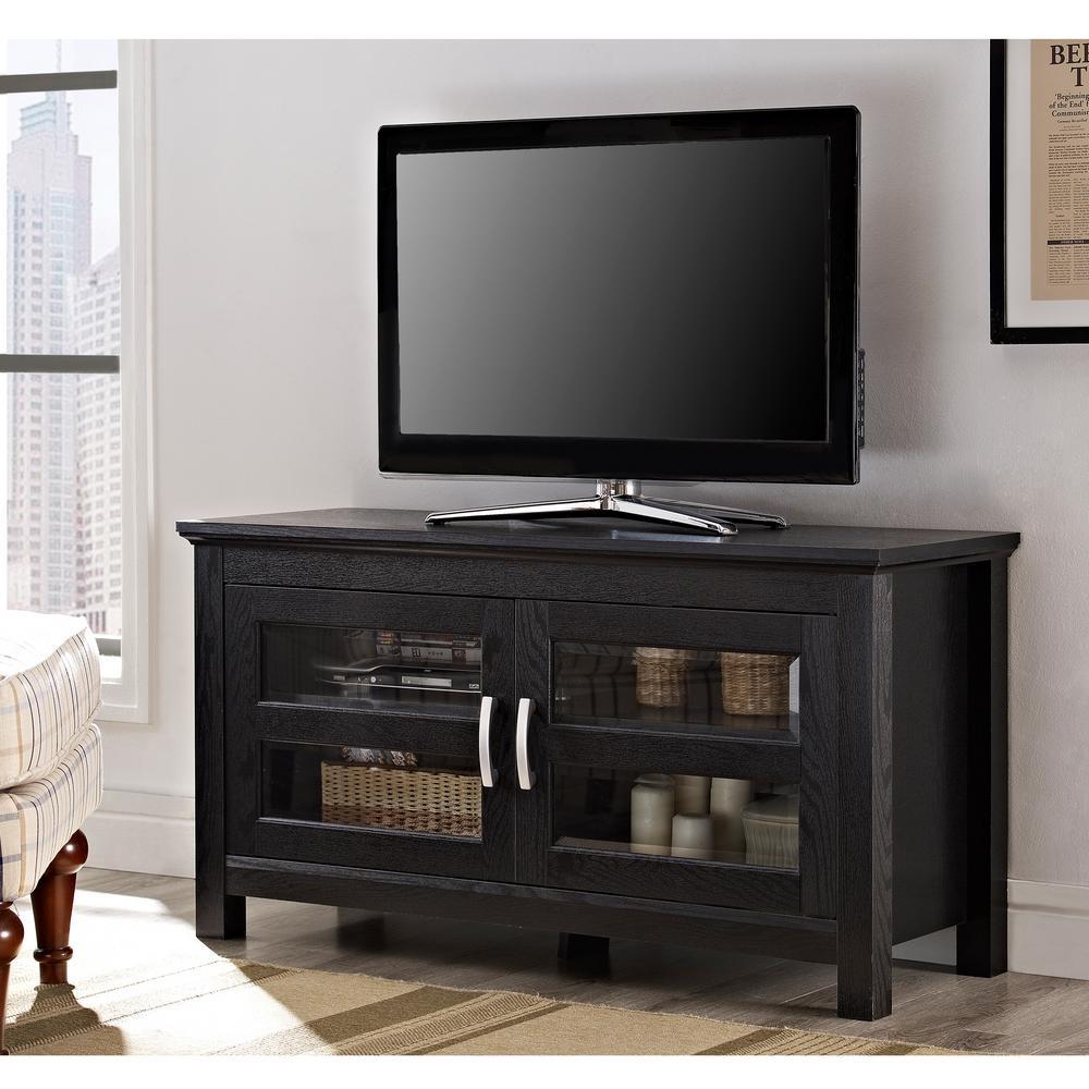 Walker Edison Furniture Company 44 in. Wood TV Stand - Black