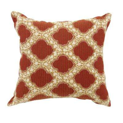 Roxy 22 in. Contemporary Standard Throw Pillow in Red