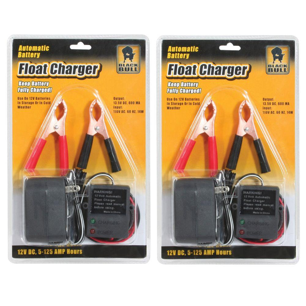 BLACK BULL 2-Piece Automatic Battery Float Charger