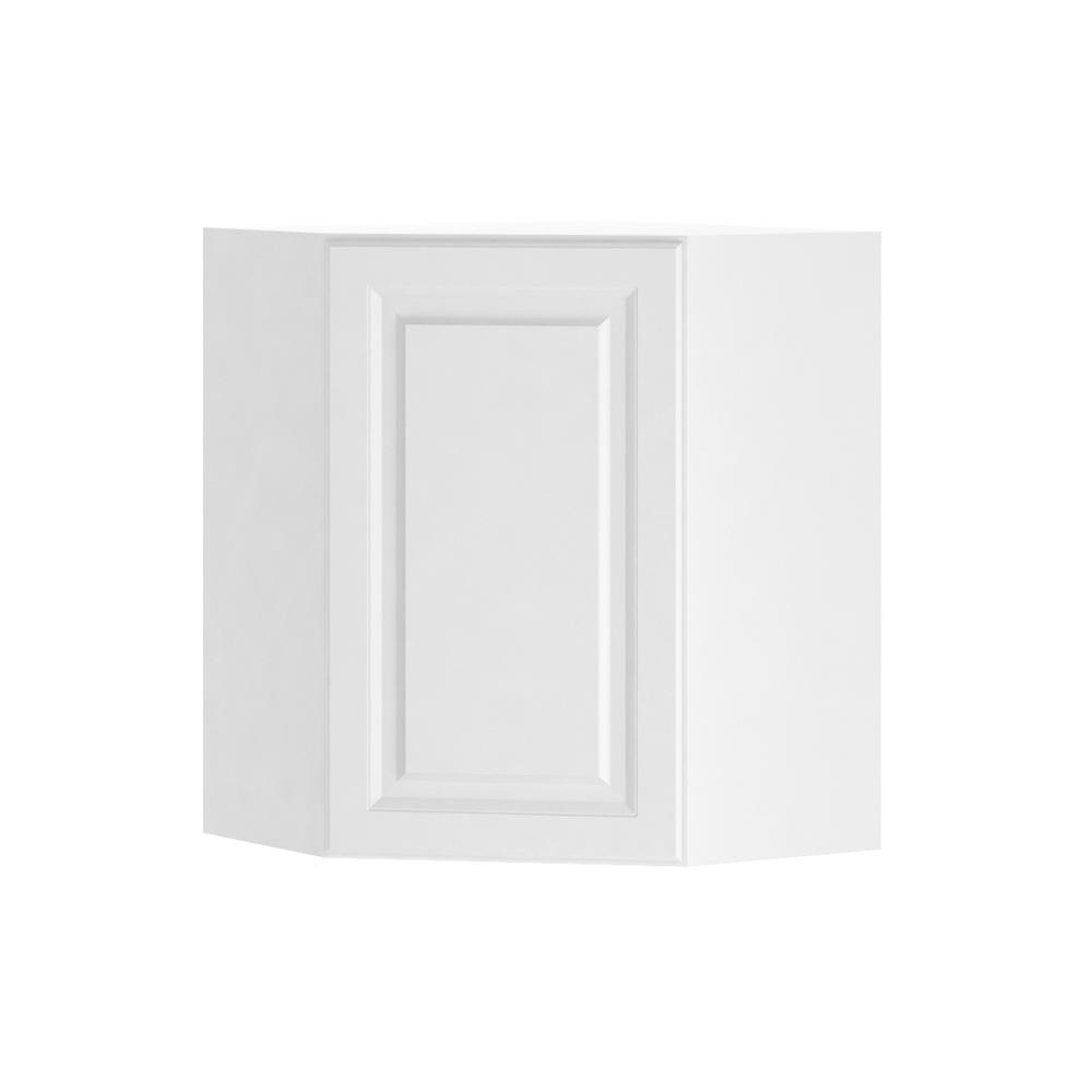 Hampton Bay Kitchen Cabinets White: Hampton Bay Madison Assembled 24x30x24 In. Corner Wall