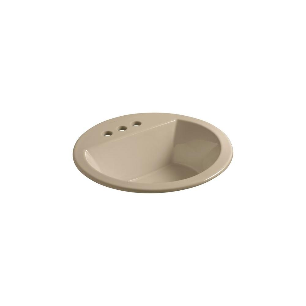 Kohler Tides Drop In Cast Iron Bathroom Sink With Center