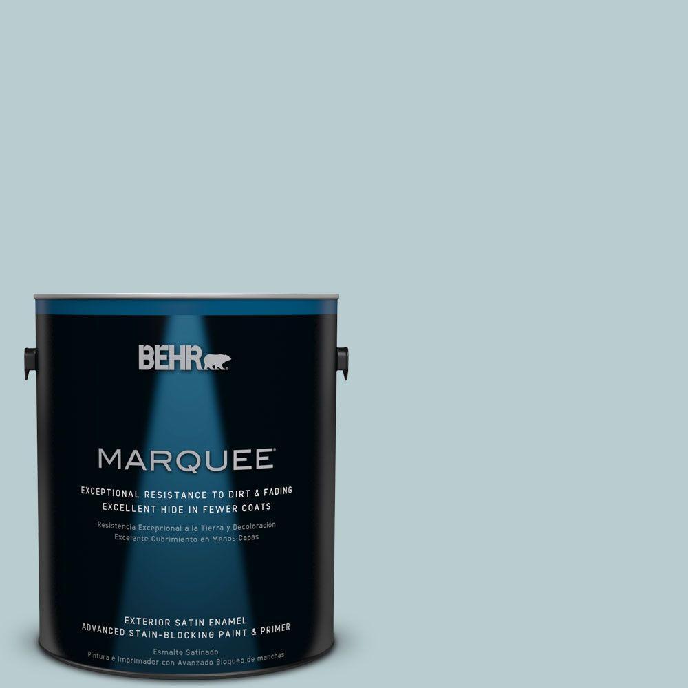BEHR MARQUEE 1 gal. #MQ3-54 Dayflower Satin Enamel Exterior Paint