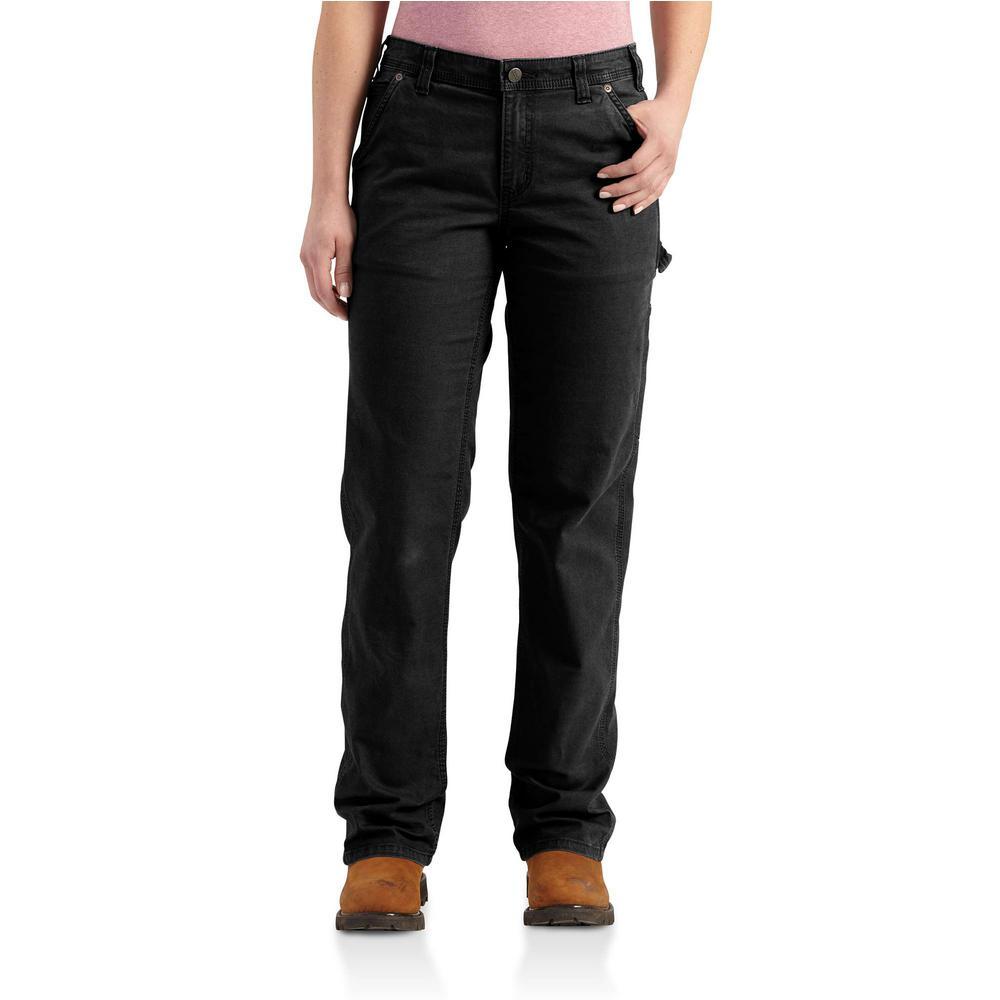 6b181e4b Carhartt Women's Short 2 Black Cotton/Spandex Original Fit Crawford ...