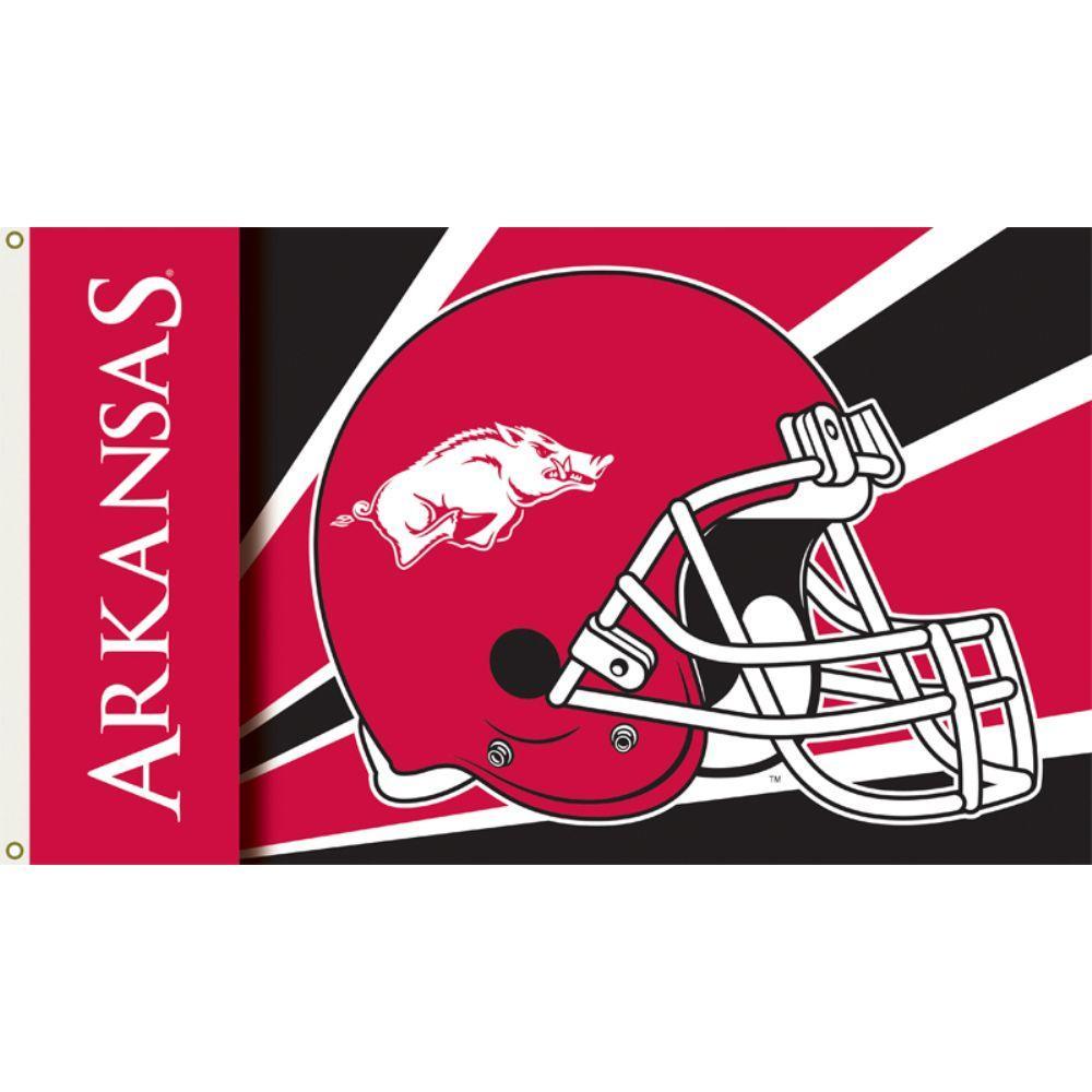 3 ft. x 5 ft. Polyester Arkansas Razorbacks Flag