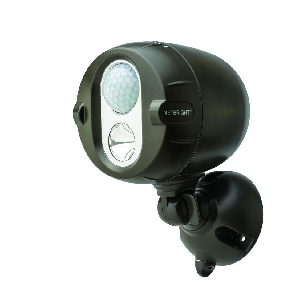 Networked Wireless Motion Sense Activated Outdoor NetBright Spot Light in Bronze