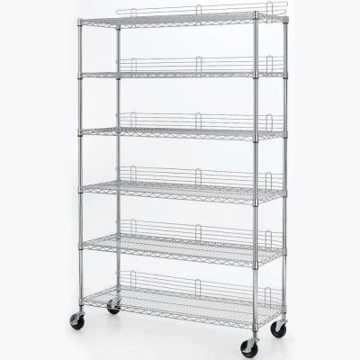 48 in. W x 77 in. H x 18 in. D 6-Tier Wire Shelving Unit in Chrome