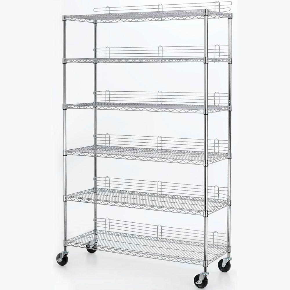 HDX 6 Shelf 77 in. H x 48 in. W x 18 in. D Industrial Wire Unit in ...