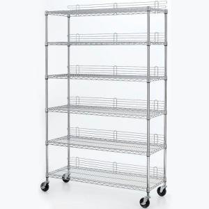 HDX 6 Shelf 77 inch H x 48 inch W x 18 inch D Industrial Wire Unit in Chrome by HDX