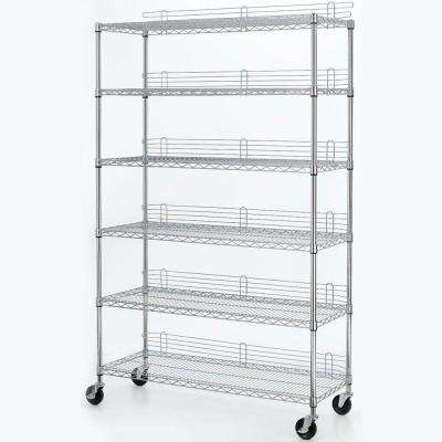 6 Shelf 77 in. H x 48 in. W x 18 in. D Industrial Wire Unit in Chrome
