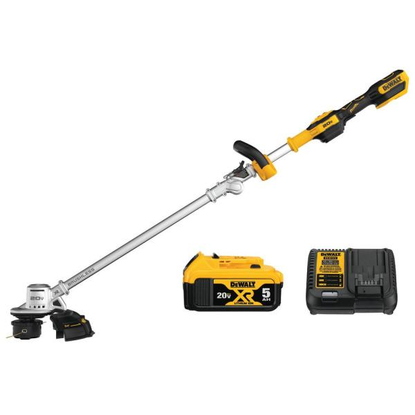 Dewalt 20v Max Lithium Ion Brushless Cordless String Trimmer With 1 5 0ah Battery And Charger Included Dcst922p1 The Home Depot