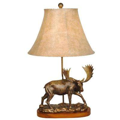 25 in. Moose Lamp with Shade