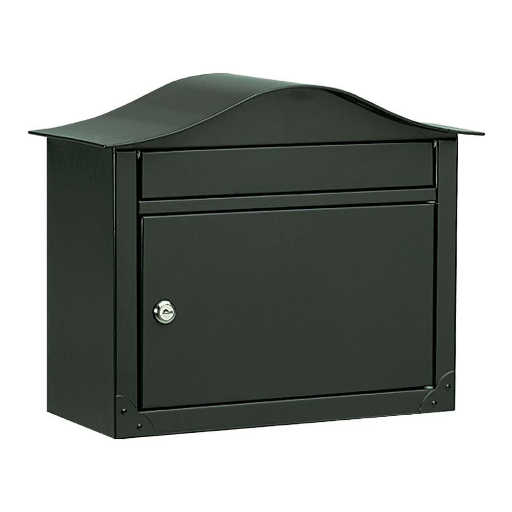 Architectural Mailboxes Lunada Black Wall-Mount Mailbox