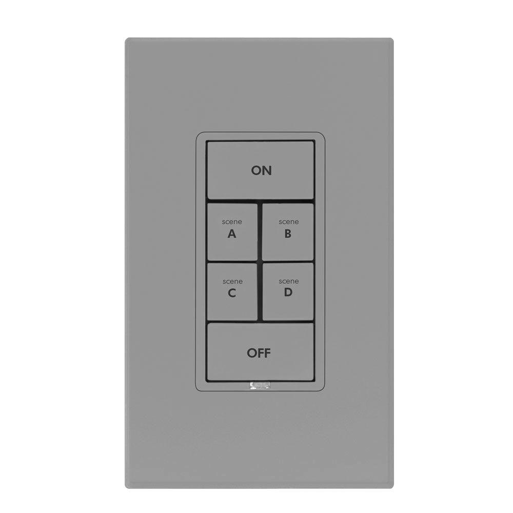 Insteon 6 Button Dimmer Keypad - Gray