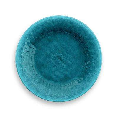 Organic Radiant Teal Glaze Turquoise Salad Plate (Set of 6)