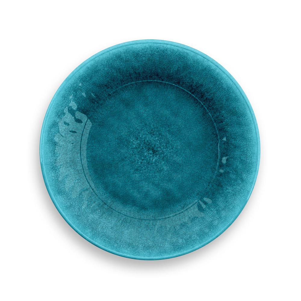 Organic Radiant Teal Glaze Turquoise Salad Plate (Set of 6)