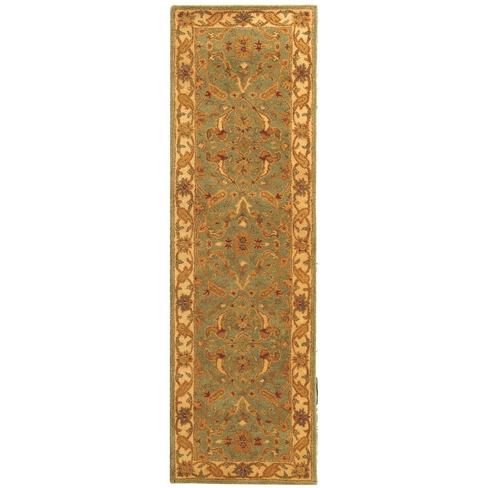 Antiquity Teal/Beige 2 ft. x 10 ft. Runner Rug