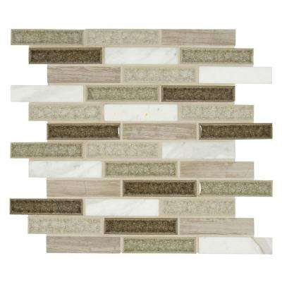 Crystal Cliff 12 in. x 12 in. x 8mm Glass and Stone Mesh-Mounted Mosaic Tile (10 sq. ft. / case)