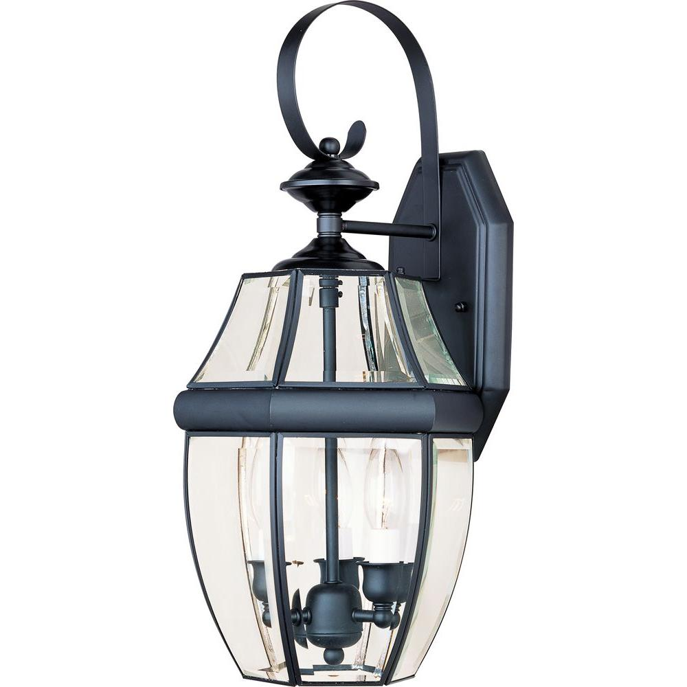 Maxim Lighting South Park 3 Light Black Outdoor Wall Lantern Sconce