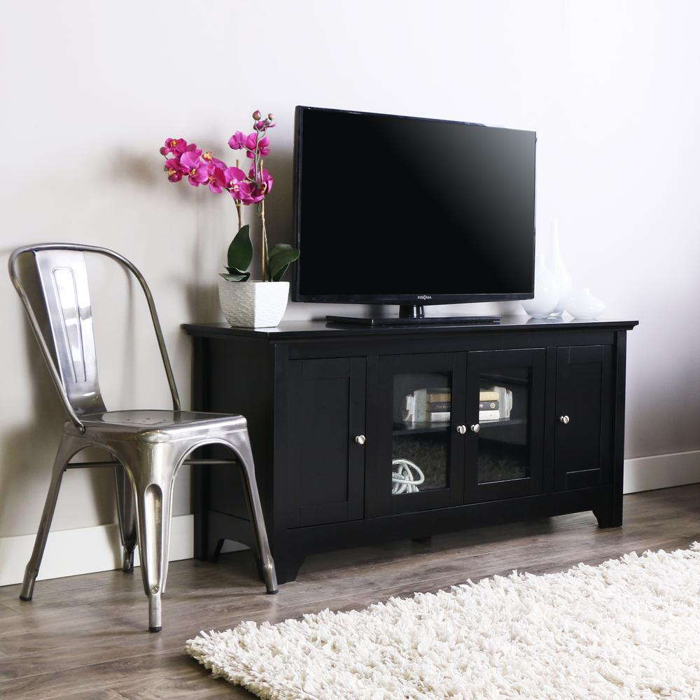 Walker Edison Furniture Company Carver Matte Black Entertainment