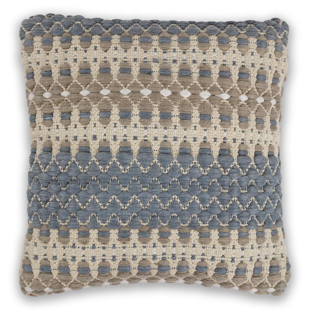 Blue/Beige Laguna 18 in. x 18 in. Decorative Pillow