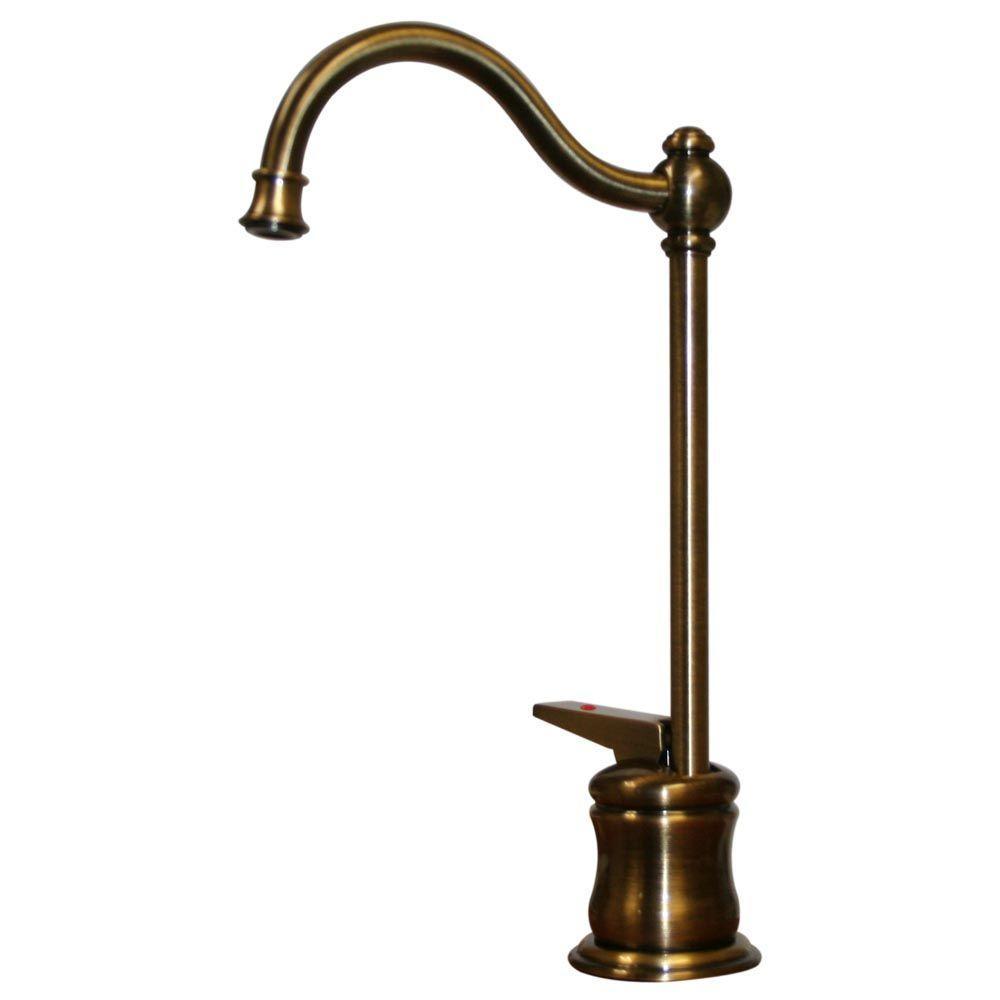 1-Handle Instant Hot Water Dispenser in Antique Brass