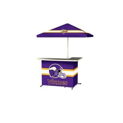 Minnesota Vikings All-Weather L-Shaped Patio Bar with 6 ft. Umbrella