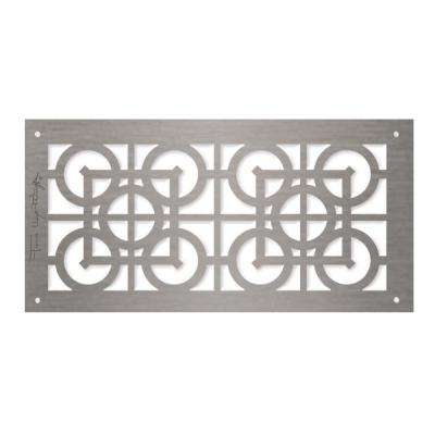 Frank Lloyd Wright Collection Luxfer Lattice Major Grille 6 in. x 12 in. Aluminum Brushed Satin