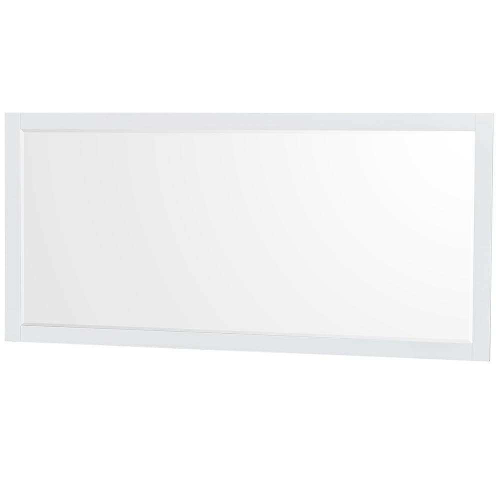 Wyndham Collection Natalie 70 in. W x 33 in. H Framed Wall Mirror in White