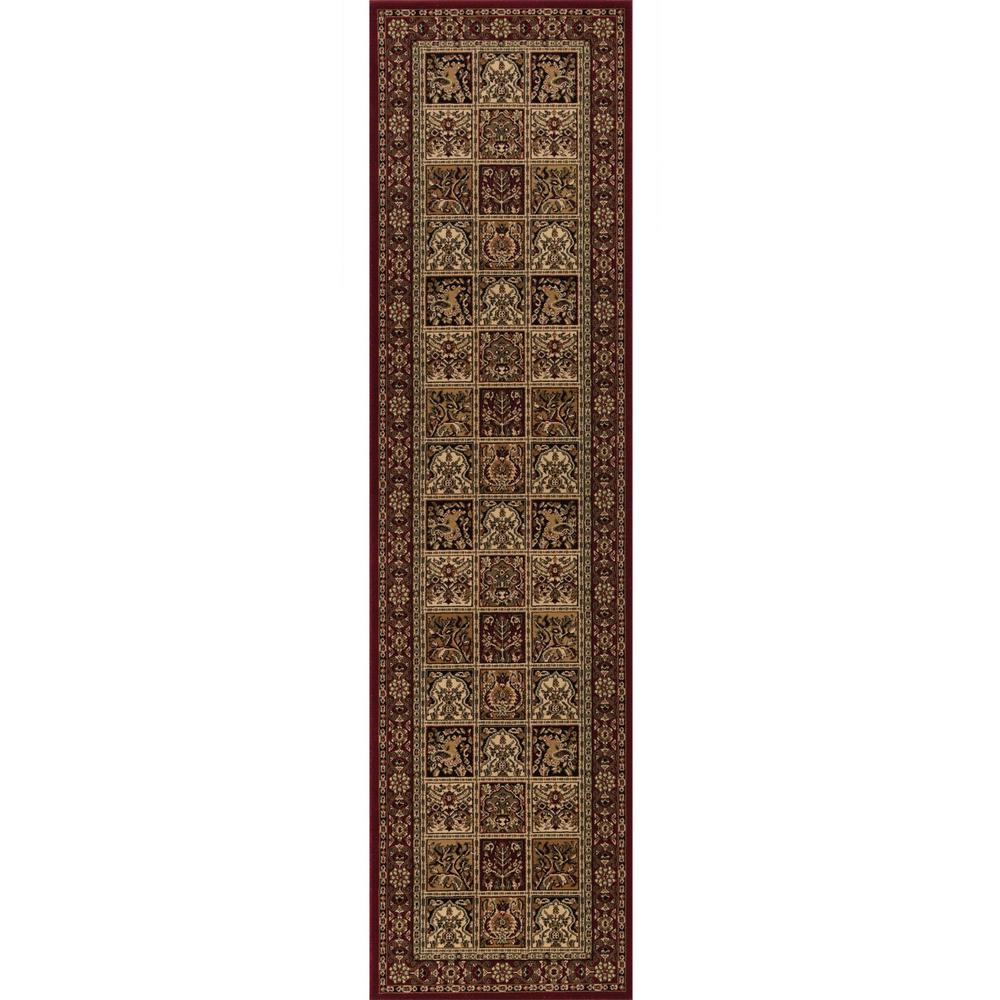 Concord Global Trading Persian Classics Panel Red 2 Ft X