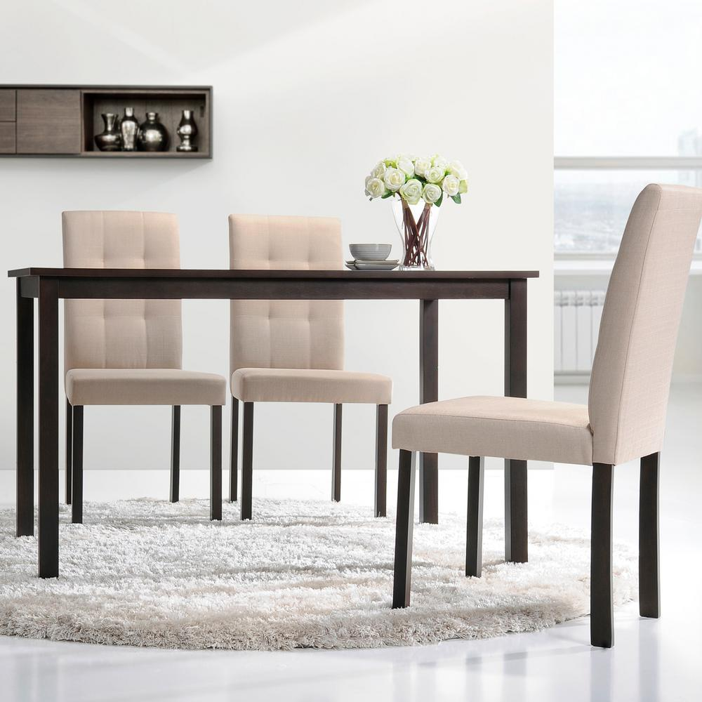 Baxton studio andrew dark brown wood dining table