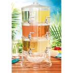 Acrylic Stackable 1.5 Gal. Dispensers with Ice Chiller (Set of 6)