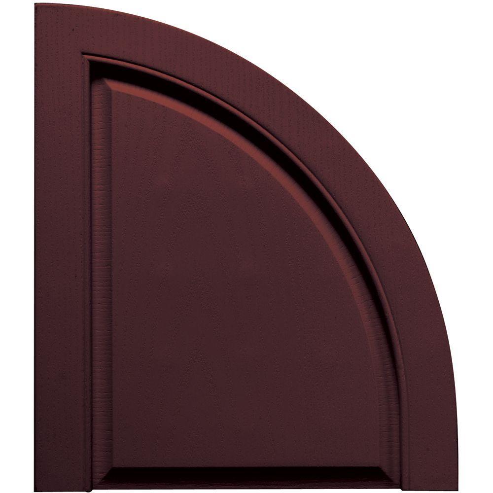 Builders Edge Solid Design Quarter Round Tops Pair #167 Bordeaux-DISCONTINUED