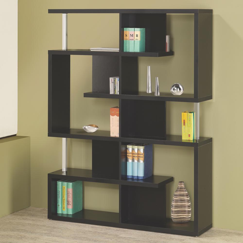 Milz Black Bookcase