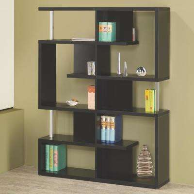 Milz Black Bookcase